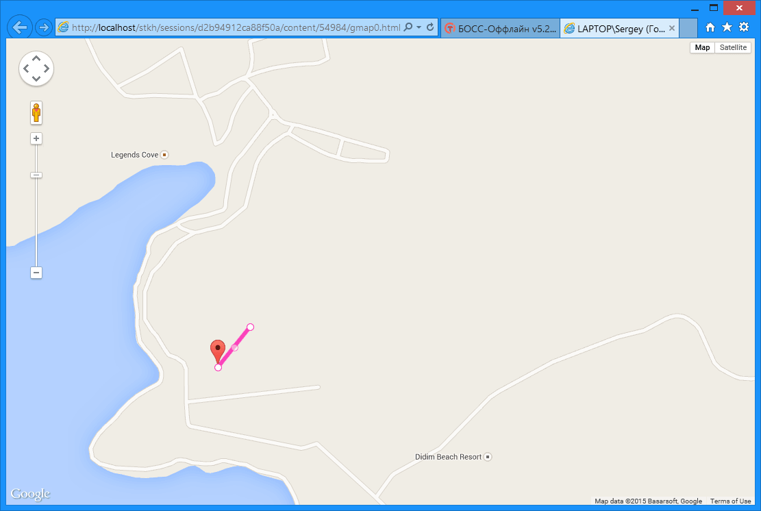 БОСС-Оффлайн - GPS-трекинг карта