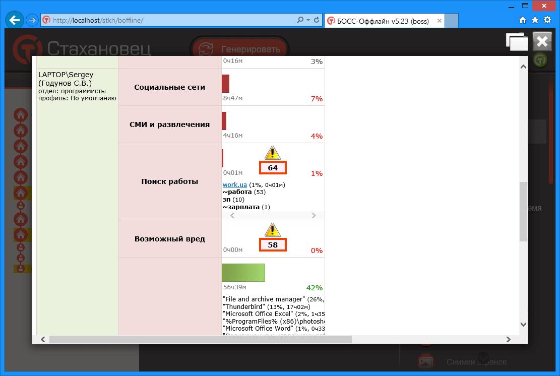 БОСС-Оффлайн - Анализатор рисков